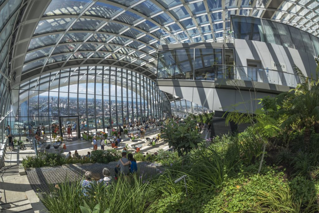 The Skygarden at the Walkie Talkie Building.